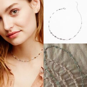 NWT free people flower bomb choker delicate silver